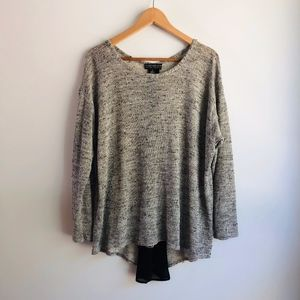Forever 21+ Marled Grey Sweater with Zipper